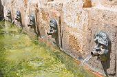 Medieval fountain. Laterza. Puglia. Italy.
