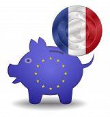 Piggy Bank And Euro European France