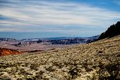 image of valley fire  - long distance photo of valley of fire landscape in Nevada - JPG