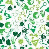 Color Biology Icons Seamless Pattern Eps10