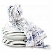 Kitchen Towels With Dishes
