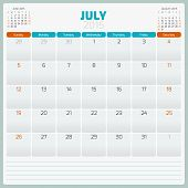 picture of tuesday  - Calendar planner 2015 template week starts sunday - JPG
