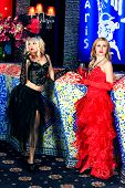 picture of moulin rouge  - Girl in the clothes of past years in style Cabaret Moulin Rouge - JPG