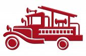 fire truck car icon