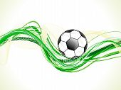 Abstract Colorful Green Football Wave