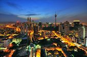 picture of klcc  - This image taken at rooftop building at Kuala Lumpur - JPG