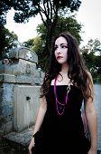 Pretty Vampire Near Charnel House