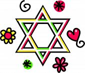 Star of David Cartoon Doodle