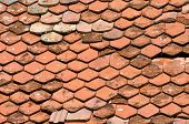 stock photo of red roof tile  - Background texture with red - JPG