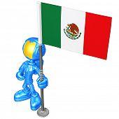 Mini Astronaut With Flag