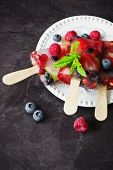 Frozen Berries On A Stick