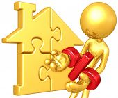 Gold Guy With Gold Home Puzzle Percentage Problem