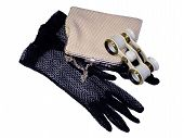 Opera Binocular, Lace Mitten And Handbag
