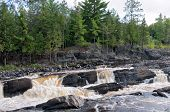 Rocky Terrain And River Rapids At Jay Cooke