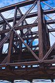 Steel Girders Of A Bridge Span
