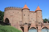 Barbican medieval city wall of Warsaw