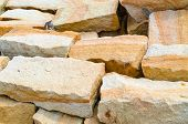 Stacked Natural Field Rock Wall Background