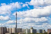 Panorama Of Moscow With Ostankino Tv Tower