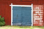 Entrance to a barn