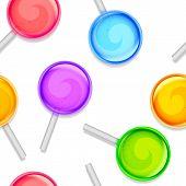 Color lollipops pattern.