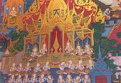 Thai Style Mural Painting:story Of Buddha