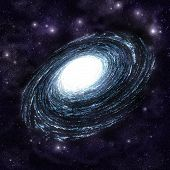 picture of outer core  - Great spiral galaxy in eternal endless space - JPG