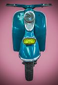 Vintage Blue Scooter