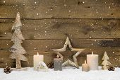 foto of xmas star  - Rustic country background  - JPG