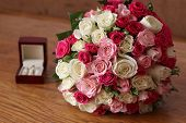 Wedding Ring And Wedding Bouquet