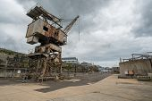 Rusty Disused Crane On Cockatoo Island Docks