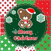 foto of teddy  - Christmas Greeting Card - JPG