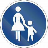 picture of mother law  - German sign at a pedestrian lane depicting mother and child - JPG