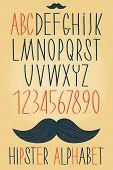 Hipster Alphabet Set