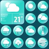 Weather Widget And Flat Icons