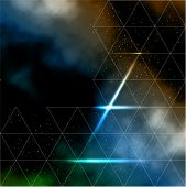 picture of past future  - Abstract line composition with galaxy night sky background - JPG