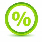 Green percentage icon