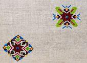 embroidery ornament figure hemp canvas