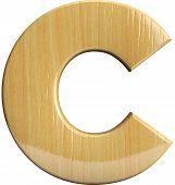 Wooden Letter C