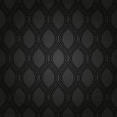 Geometric Seamless  Black Pattern