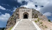 image of mausoleum  - High stairway leading to tunnel and mausoleum of Peter Njegosh Montenegro - JPG