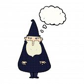 pic of wizard  - cartoon wizard with thought bubble - JPG