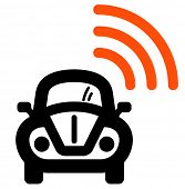 Wifi in car icon