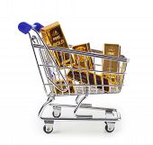 Gold Bullion In Shopping Cart