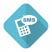 picture of sms  - sms flat icon phone sign