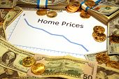 home prices falling down