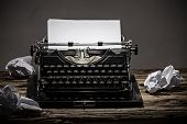 stock photo of old post office  - Old vintage typewriter - JPG