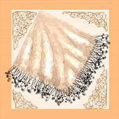 Silk Abstract Napkin