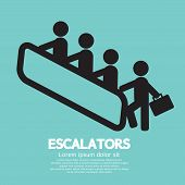 Escalators.