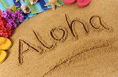 Aloha Beach Writing