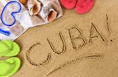 Cuba Beach Background